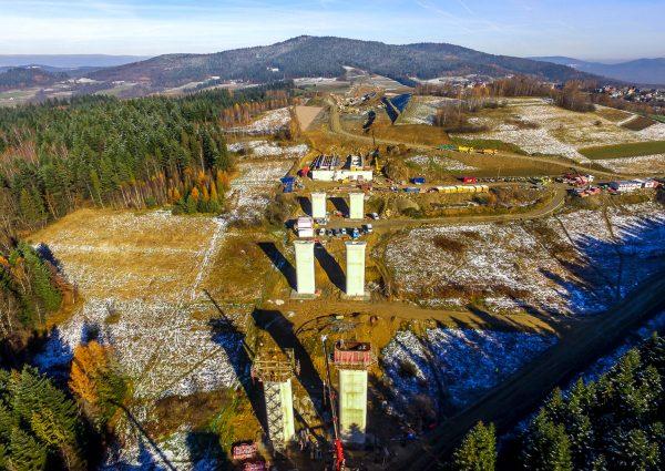 Budowa S7 w rejonie Lubienia