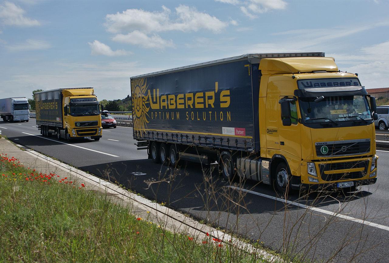 Ciężarówka firmy Waberer's