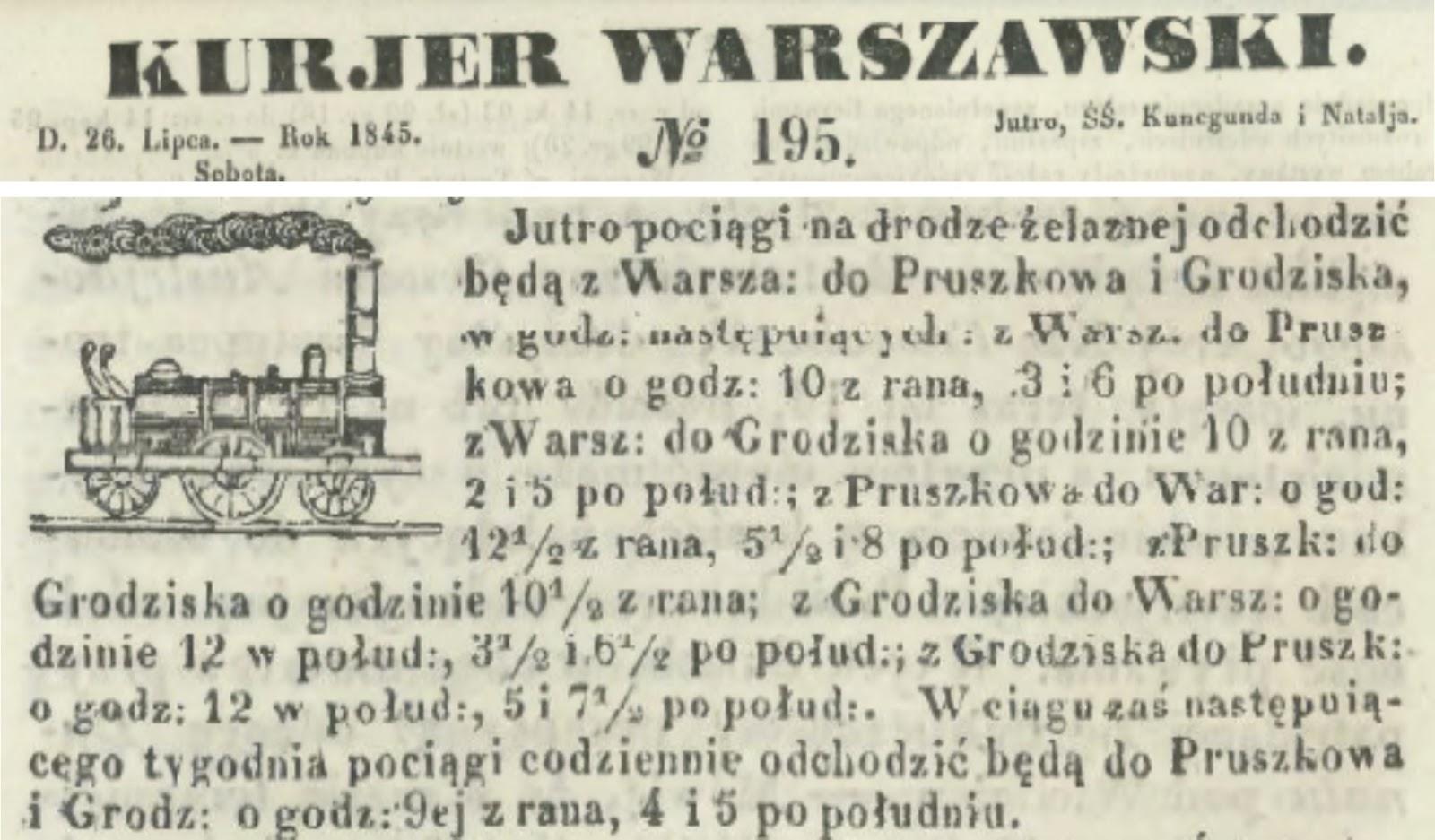 Grodzisk 1845 - polska kolej
