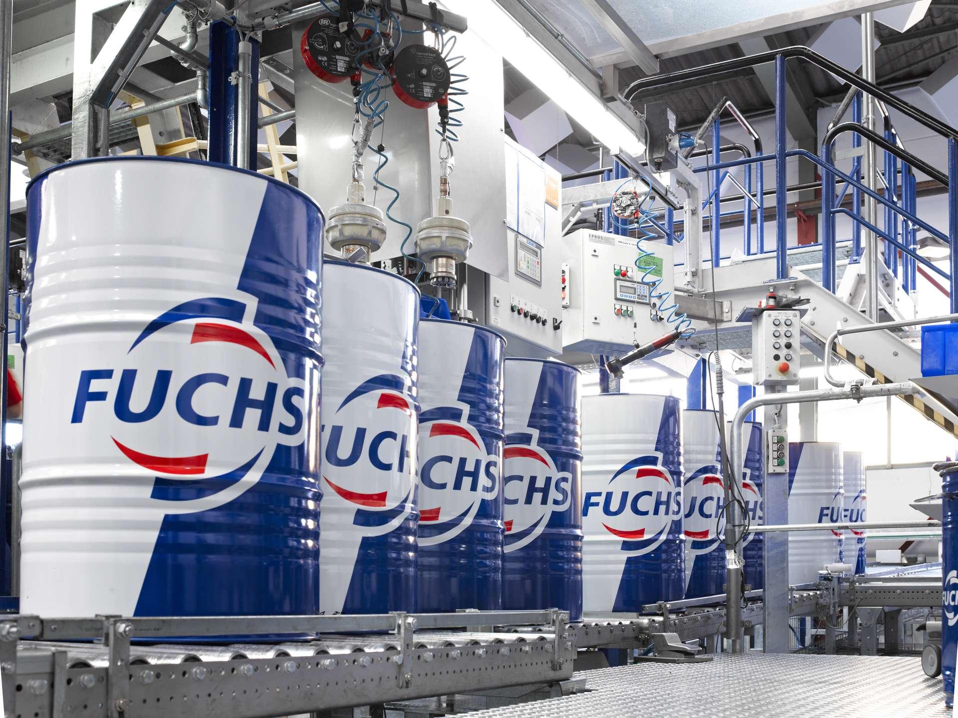 Beczki producenta Fuchs Oil