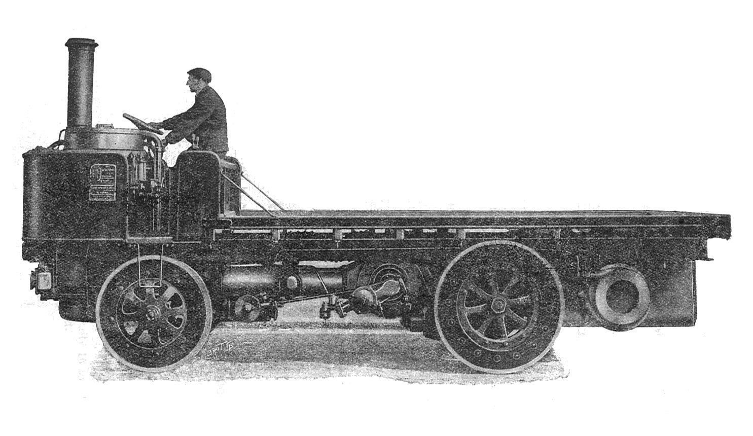 Parowa ciężarówka z 1911 r.
